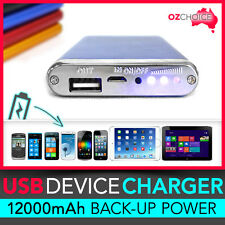 12000mAh Portable Backup Battery Charger External Power Bank iPhone iPad Galaxy
