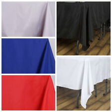 """90x90"""" Square Polyester Tablecloth - Black, White or Ivory - Cheap Table Linens"""