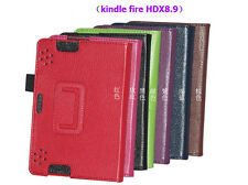 "Leather Stand Folio Case Cover For Amazon Kindle Fire HDX 8.9"" Tablet"