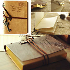 Retro Vintage Classic Leather Notebook String Key PU Diary Journal Sketchbook