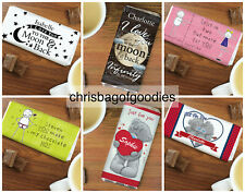 PERSONALISED Romantic I Love You ROMANCE CHOCOLATE BAR Gifts For Him Her Present