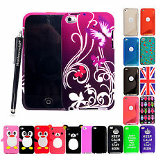 For Apple Ipod Touch 4 4th Gen New Silicone Gel Soft Back Fits Case Cover+Stylus