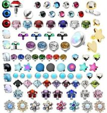 Dermal Anchor Top - Micro Dermal Head Skin Surface Piercing Flat Gem Star Disc