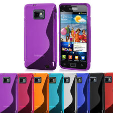 S Line Silicone Wave Gel Case Cover For Samsung Galaxy SII i9100 & ACE 2 i8160