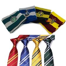 2x Harry Potter Gryffindor/Slytherin/Ravenclaw/Hufflepuff Costume Scarf & Tie MG