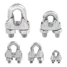 Stainless Steel Commercial Wire Rope Clip Cable Clamp - Choose from 5 Sizes
