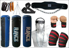 Power 8Pcs set Punching Bag Knee wrist wraps Head Harness Dipping Belt Jump Rope
