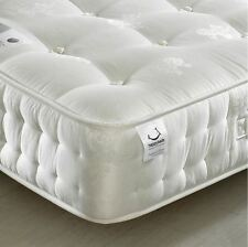 Happy Beds Signature Silver 1400 Pocket Sprung Orthopaedic Mattress Organic New