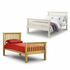 Happy Beds Barcelona Pine / White High Foot End Bed Solid Wood Bedroom Furniture