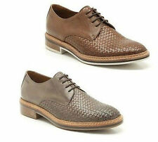 MENS CLARKS STONE, TAN SMOOTH WOVEN LEATHER LACE UP SHOES GRIMSBY CRAFT FIT G