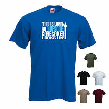 'This is What an Awesome Caretaker Looks Like' Groundsman Funny T-shirt Tee