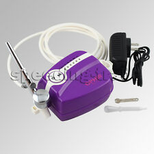 OPHIR Black/White/Purple Compressor Kit Airbrush for Hobby Tattoo Makeup Craft