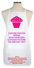 CUPCAKE APRON USING YOUR OWN CUPCAKE PIC PERSONALISED FREE toddler/child/adult