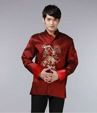 Handsome Chinese Dragon Kung Fu Party Jacket/Coat Black Size: M-XXXL