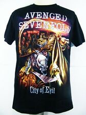 AVENGED SEVENFOLD Retro City Of Evil Men's New T Shirt Size S/M/L/XL/XXL