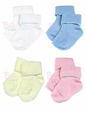 2 Pairs of Premature or Tiny Newborn Socks in Blue, Pink, Cream and White