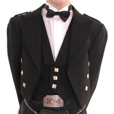 New Boys Scottish Highland Black Formal Prince Charlie Jacket and Waistcoat