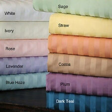 Sale Stripe 1pc Fitted Sheet 1000TC 100% Egyptian Cotton In All Size & Color