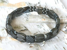 Handmade Over 10,000 gauss Onyx Magnetic Hematite Bracelet Anklet Powerful 2 Row