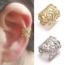 Delicate Heart Chantilly Lace Decorated Warp Upper Ear Clip On Cuff Earring 1pcs
