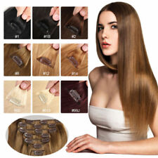"Cheap 5PCS 40G 100% remy human hair clip-on in extensions 16""20""24""  On Sale ^-^"