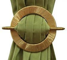 SET OF 2 DECORATIVE CURTAIN HOLDBACKS, WINDOW CURTAIN TIEBACKS, THREAD, 4 COLORS
