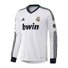 adidas REAL MADRID 2012-2013 Long Sleeve Home Soccer Jersey Brand New