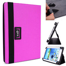 "Kroo Bright Purple Universal Adjustable Folio Cover Stand for 7"" Tablets"