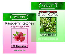 Raspberry Ketone 400mg Mega Strength & Green Coffee SUPER STRENGTH SYNVIT®