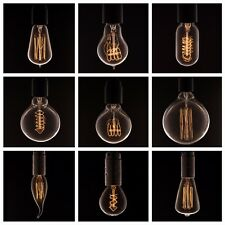 VINTAGE STYLE LIGHT BULBS | edison incandescent | bayonet B22 E27 E14 40 or 60W