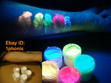 Invisible UV blacklight glow body paint make-up 5 color set