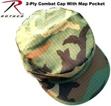 WOODLAND CAMO GOVT SPEC 2 PLY Cotton Rip-Stop Military Patrol Fatigue Cap 5645