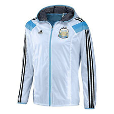 adidas Argentina World Cup WC 2014 Soccer Woven Hooded Presentation Jacket White