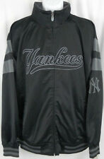 New York Yankees Majestic Black Track Full Zip Jacket