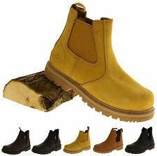 Mens Leather NORTHWEST TERRITORY Safety Steel Toe Cap Shoes Oil Res Work Boots