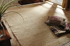 Natural Burlap Cotton Chindi Rag Country Area Rug Casual Home Decor