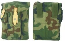AK47 KALASHNIKOV AMMO POUCH CAMO FITS ANY BELT CANVAS + LEATHER cartridge bag