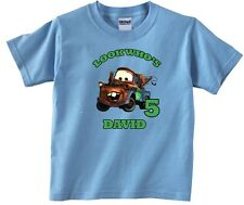 Cars Tow Mater Personalized Custom Birthday Shirt in 8 Different Colors