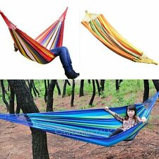 Double Single Person Camping Swing Hanging Hammock Canvas Chair Garden Outdoor
