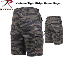 TIGER STRIPE Camouflage Military BDU Combat Cargo Shorts Poly/Cotton 7085