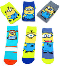 2 Pair Funny Present Cute Cartoon Unisex Novetly Minions Ankle Cotton Socks New