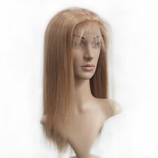 """Blonde 8""""-18"""" Full Lace Wig Silky Straight 100% Handmade India Remy Human Hair"""