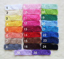 Wholesale Girls Baby Toddle/1.5inch X 1.7inch Infant Crochet Headbands 20-100pcs