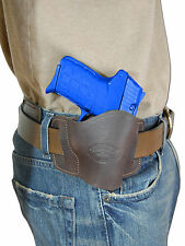New Barsony Brown Leather Quick Slide Holster Kahr Beretta 380 Ultra Comp 9mm 40