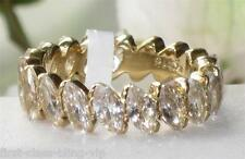 Size J L N P R T  5 -10 Marquise Yellow ETERNITY Ring Simulated Diamond LTK1234E