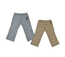 Hurley MILES PLAID H2O Blue Stone Beige Black Plaid Pockets Junior's Capri Pants