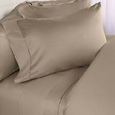 1000TC COMPLETE USA BEDDING SET SOLID TAUPE 100% COTTON CHOOSE SIZE AND ITEM