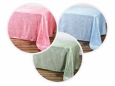 "12 pcs 90x156"" Crinkle Taffeta Rectangle TABLECLOTH Overlay Wedding Party Linens"