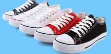 Hot! WOMENS ALL COLOURS LACE UP PLIMSOLLS GIRLS FLAT CANVAS PUMPS Sneakers SHOES