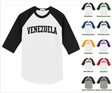 Country of Venezuela College Letter Team Name Raglan Baseball Jersey T-shirt